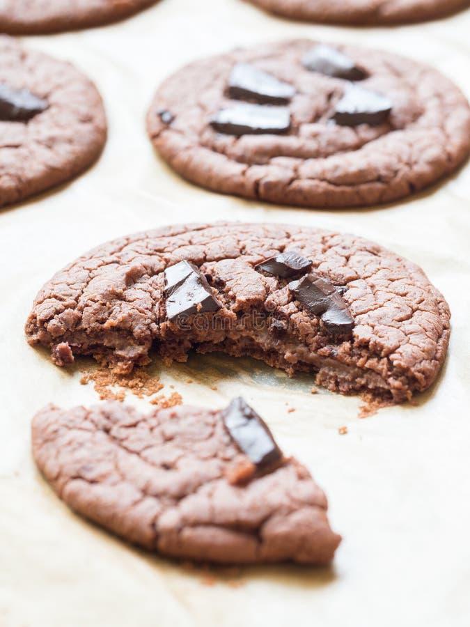 El gluten del vegano libera las galletas imagen de archivo