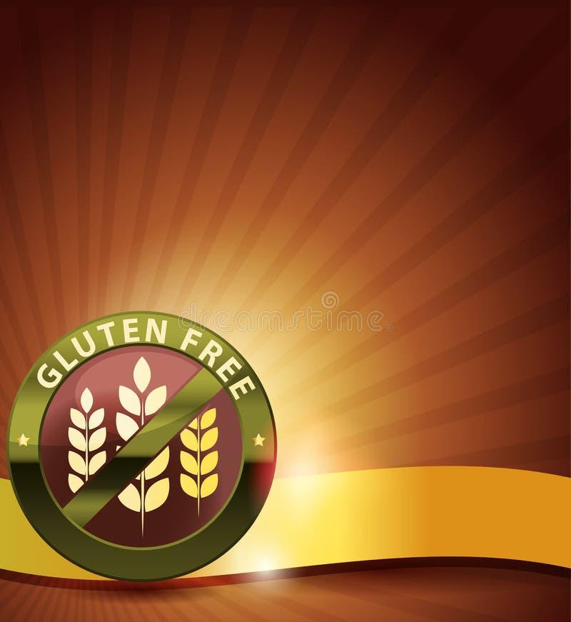 El gluten elegante libera la tarjeta ilustración del vector