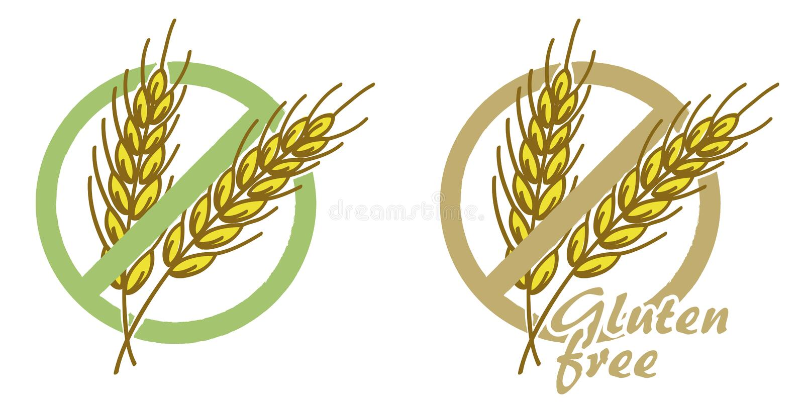 El gluten libera libre illustration