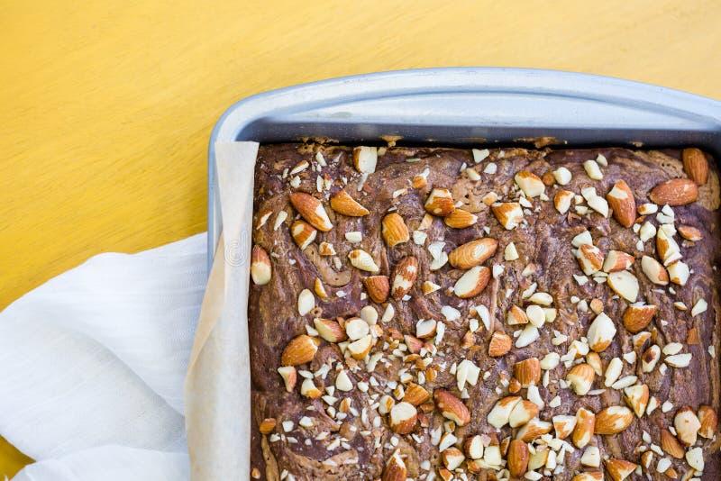 El gluten libera el postre imagenes de archivo