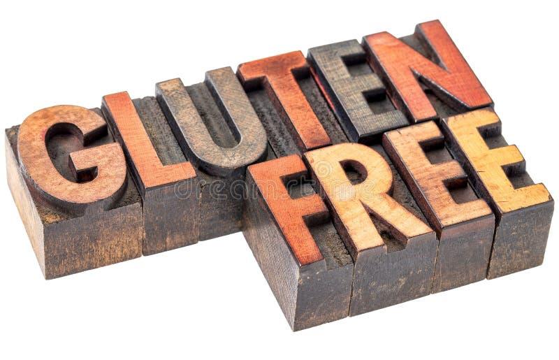 El gluten libera en tipo de madera del vintage foto de archivo