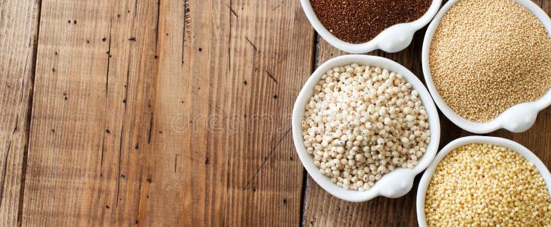 El gluten libera granos imagen de archivo