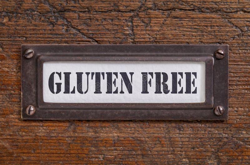 El gluten libera la escritura de la etiqueta foto de archivo libre de regalías