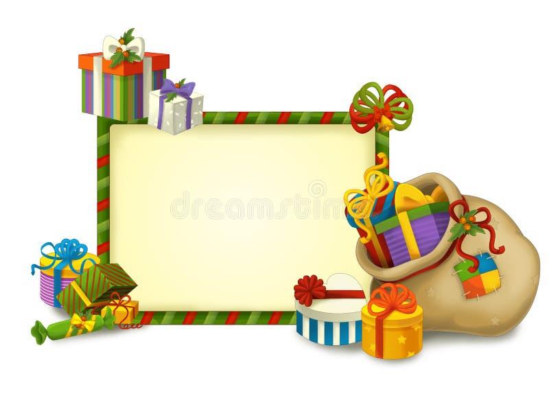 El gnomo de la Navidad - drawrf - ejemplo para los niños ilustración del vector