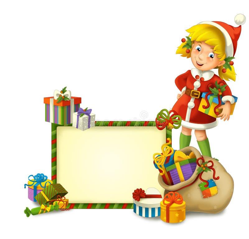 El gnomo de la Navidad - drawrf - ejemplo para los niños stock de ilustración
