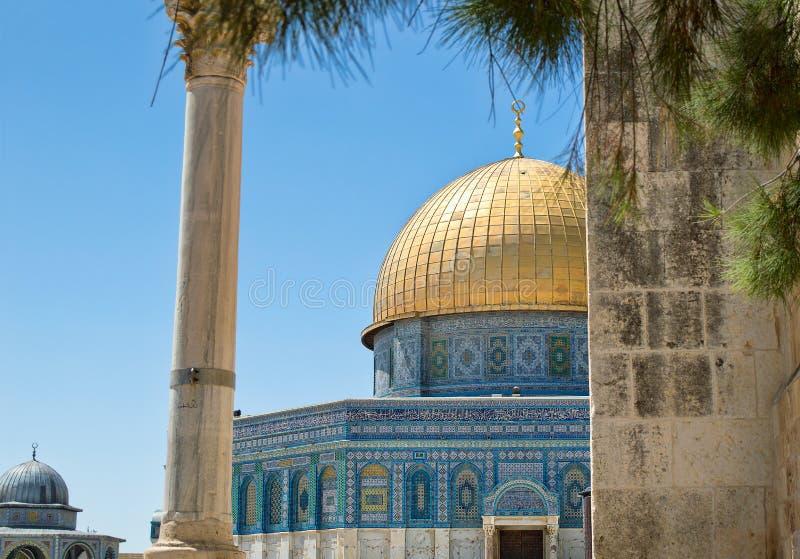 El Golden Dome de la roca en Jerusalén fotografía de archivo