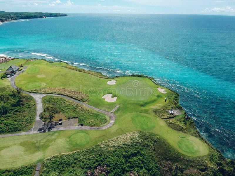El golf de Bali coloca la visión aérea foto de archivo libre de regalías