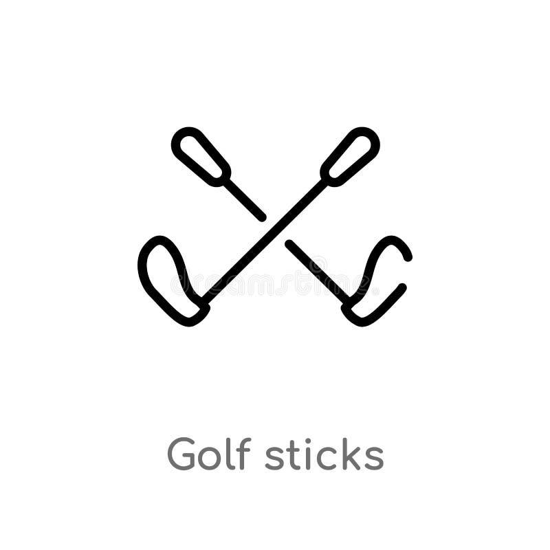 el golf del esquema pega el icono del vector l?nea simple negra aislada ejemplo del elemento del concepto del negocio Movimiento  libre illustration