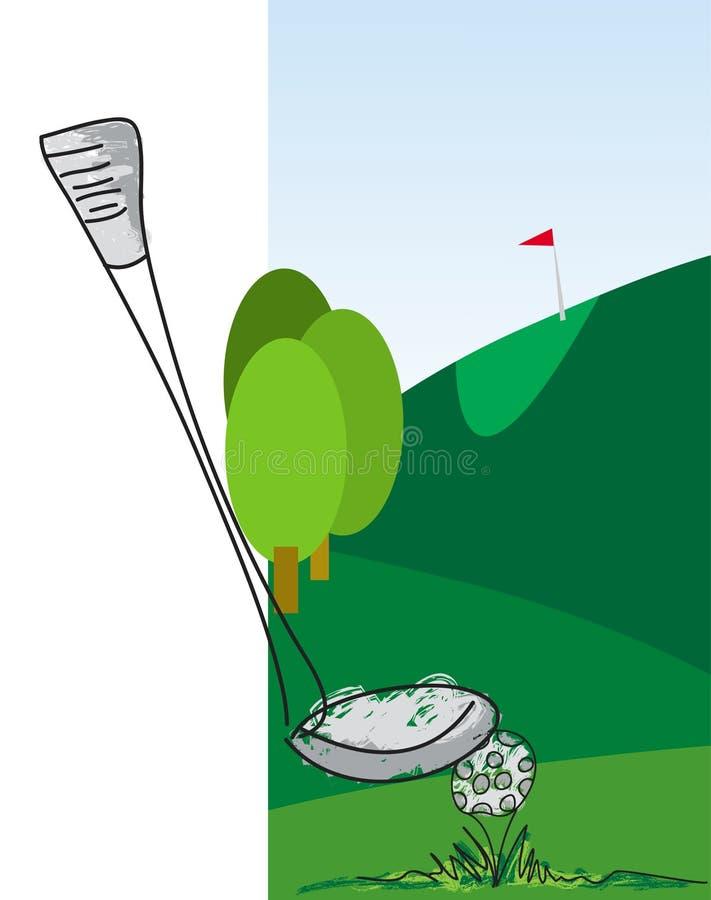 El Golfing ilustración del vector