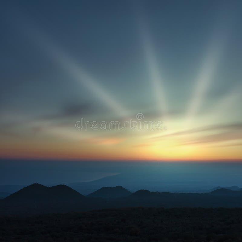 El golfo en la puesta del sol foto de archivo libre de regalías