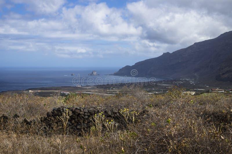 El Golfo valley seaview. El Hierro, Canary Islands, Spain royalty free stock image