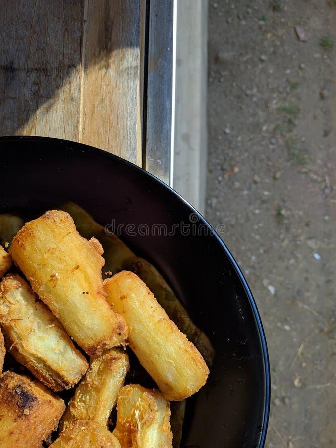 El goreng de Singkong es comida tradicional indonesia fotos de archivo libres de regalías