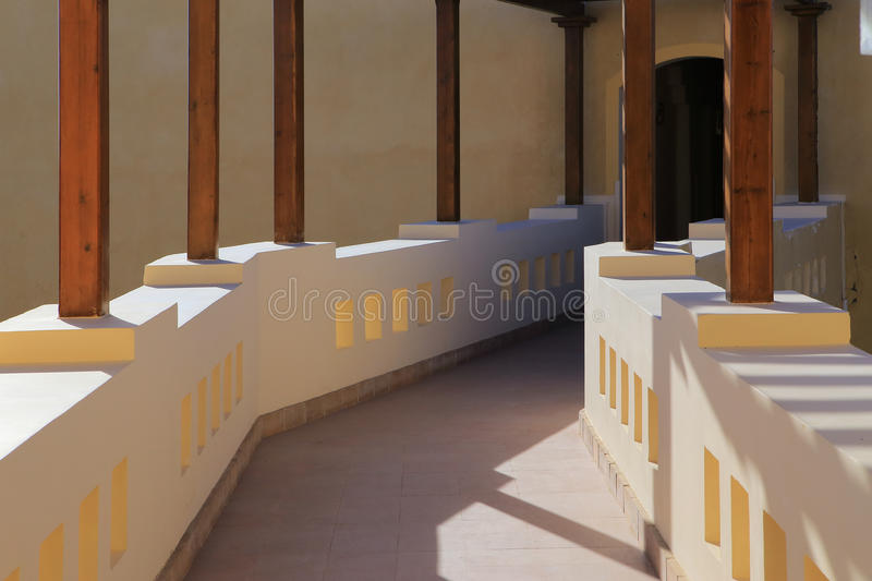 El Gouna. Geometry. The resort town of El Gouna in Egypt royalty free stock photography