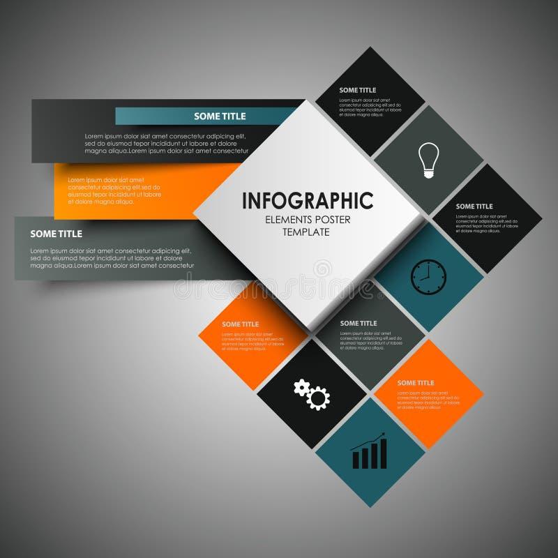 El gráfico de la información con diseño abstracto ajusta la plantilla stock de ilustración