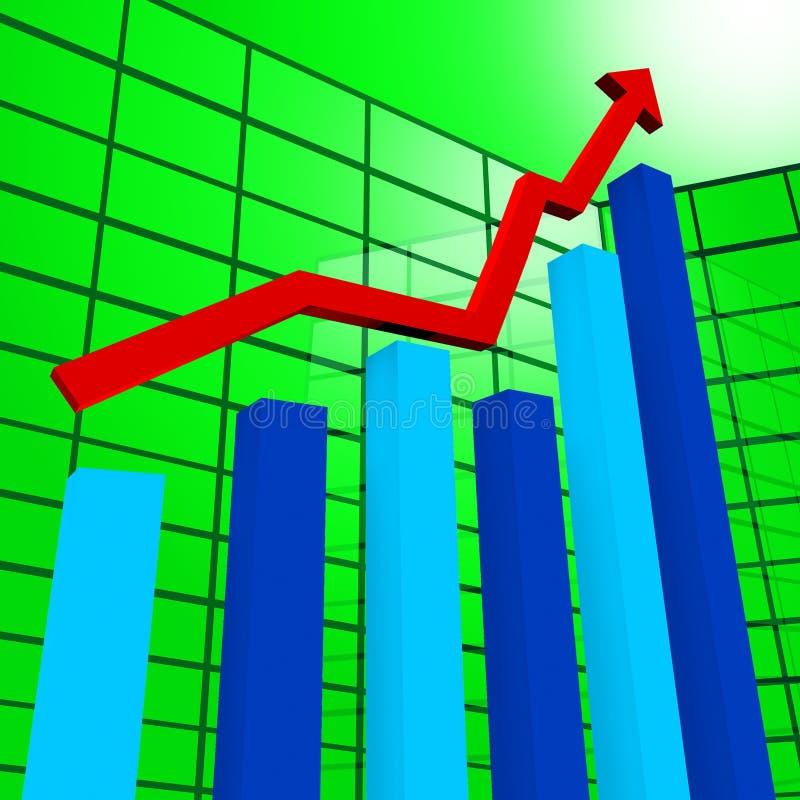 El gráfico de negocio indica el diagrama Infochart y el beneficio libre illustration