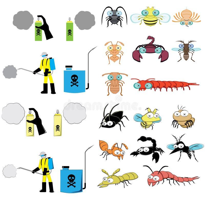 El gráfico del control de parásito incluye el rociador y al parásito libre illustration