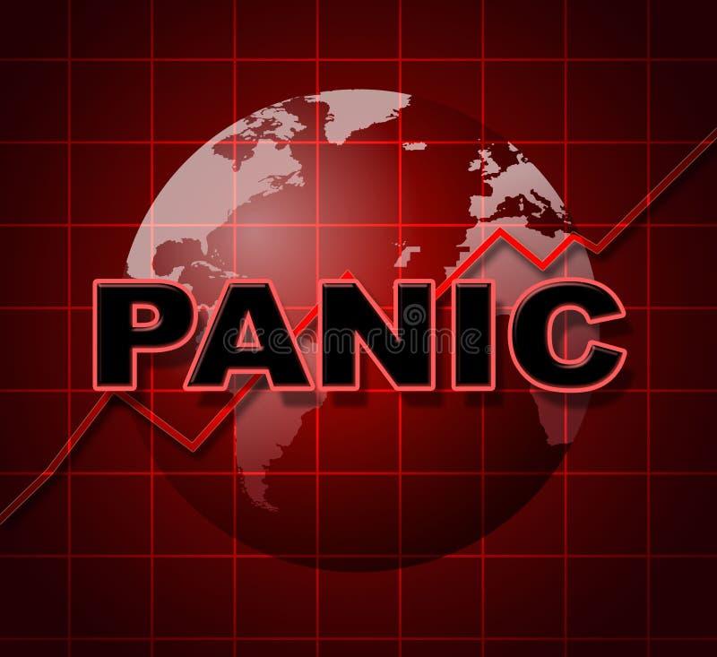 El gráfico del pánico representa la ansiedad y el diagrama de Infograph stock de ilustración