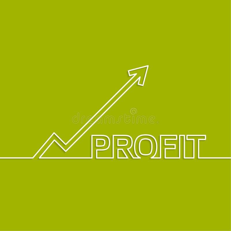 El gráfico muestra el crecimiento y el beneficio ilustración del vector