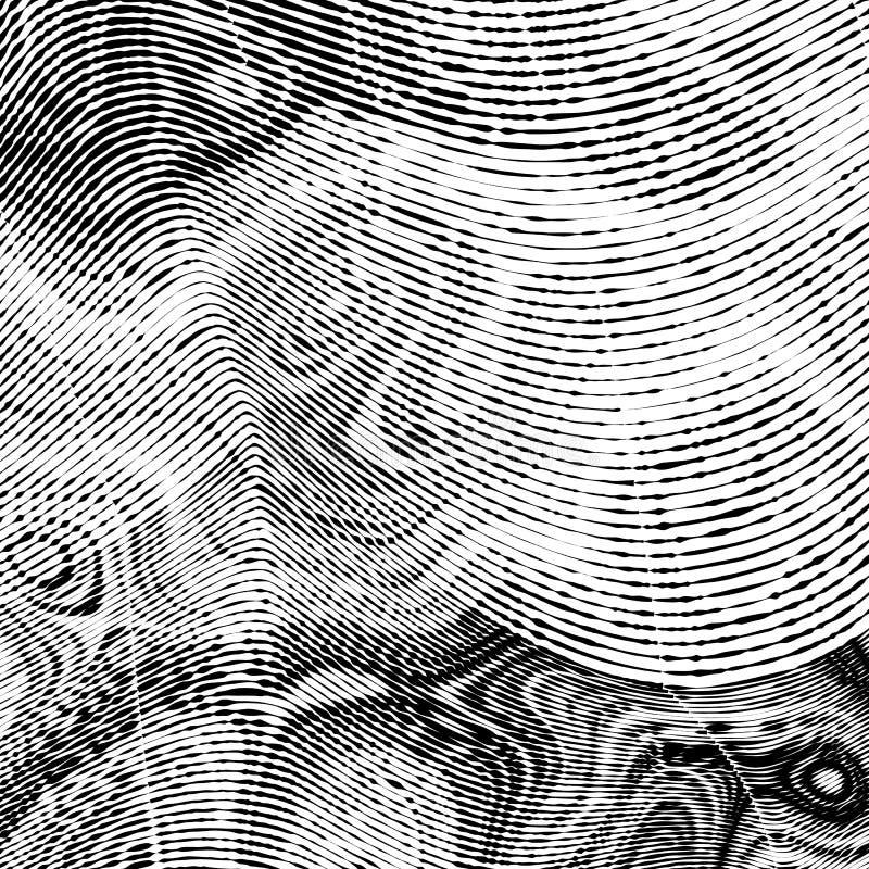 El grabar en madera abstracto diseñó el fondo stock de ilustración