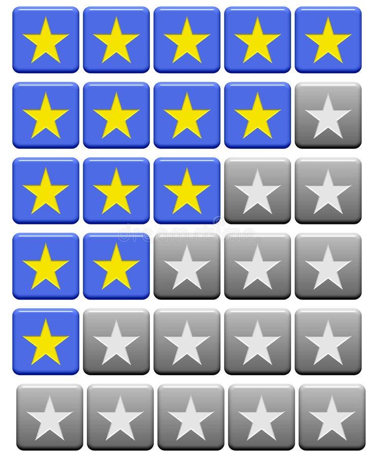 El grado abotona el azul gris stock de ilustración