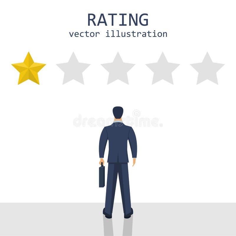 El grado del hombre de negocios protagoniza el ejemplo del diseño del vector stock de ilustración