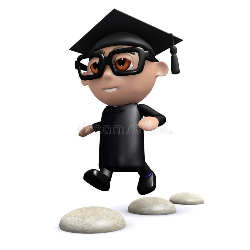 Download El Graduado 3d Salta Sobre Progresiones Toxicológicas Stock de ilustración - Ilustración de escuela, piedras: 41921113