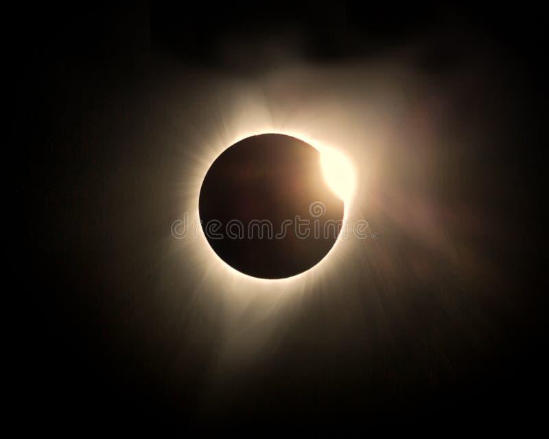 El gran eclipse agosto de 2017 americano foto de archivo