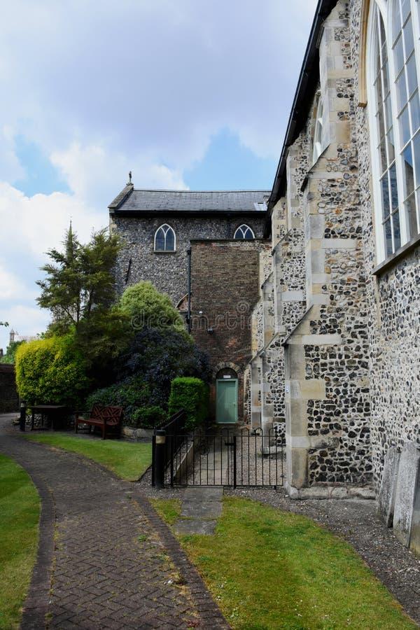 El gran hospital, Norwich, Norfolk, Inglaterra imágenes de archivo libres de regalías