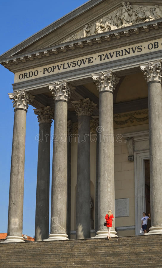 El Gran Madre di Dio Church en Turín imagen de archivo libre de regalías