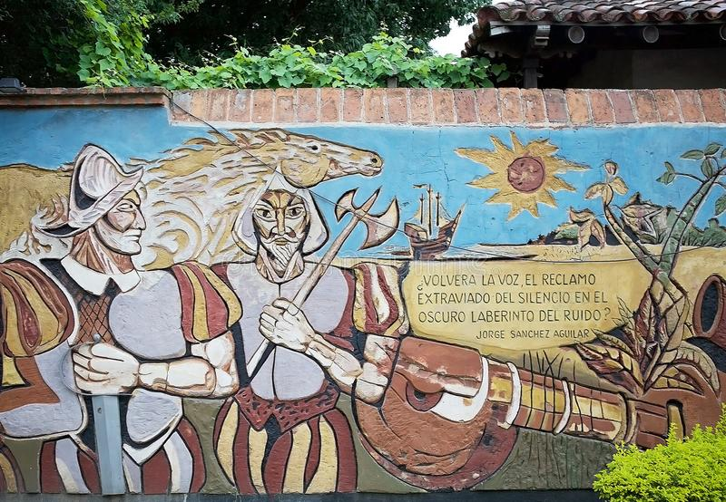 El Gran Mural in Corrientes, Argentina stock photo