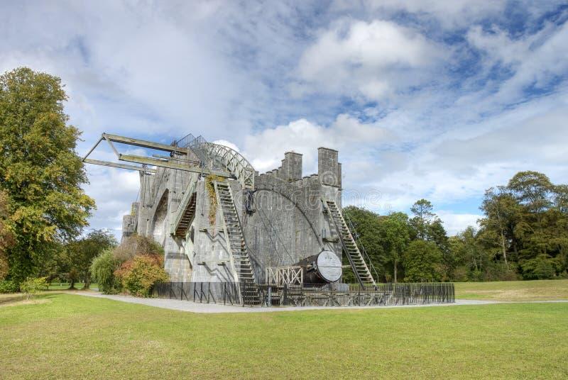 El gran telescopio en el castillo del birr en Irlanda. foto de archivo libre de regalías