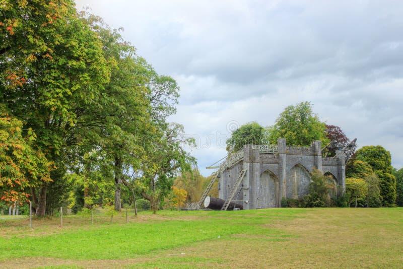 El gran telescopio en el castillo del birr en Irlanda. fotos de archivo libres de regalías