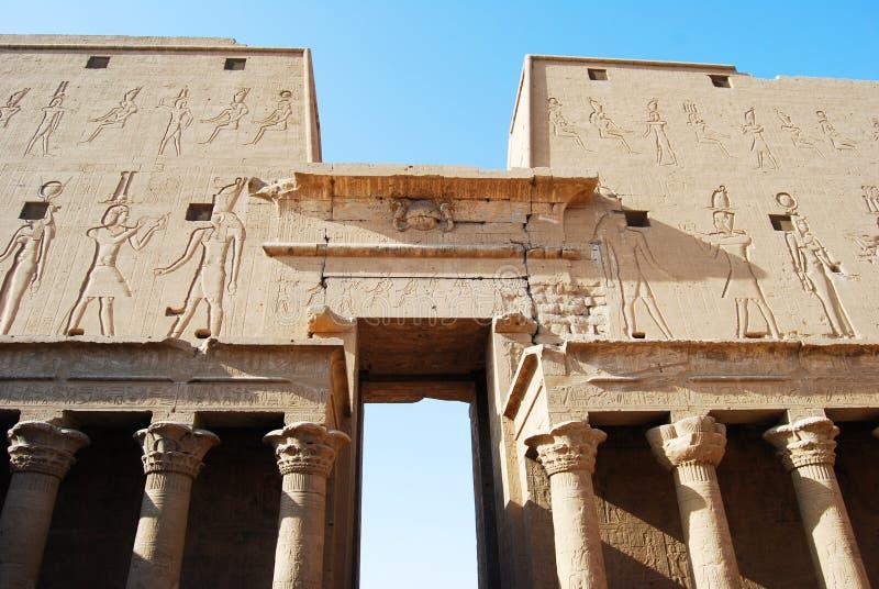 El gran templo de Edfu, Nubia, Egipto fotografía de archivo libre de regalías