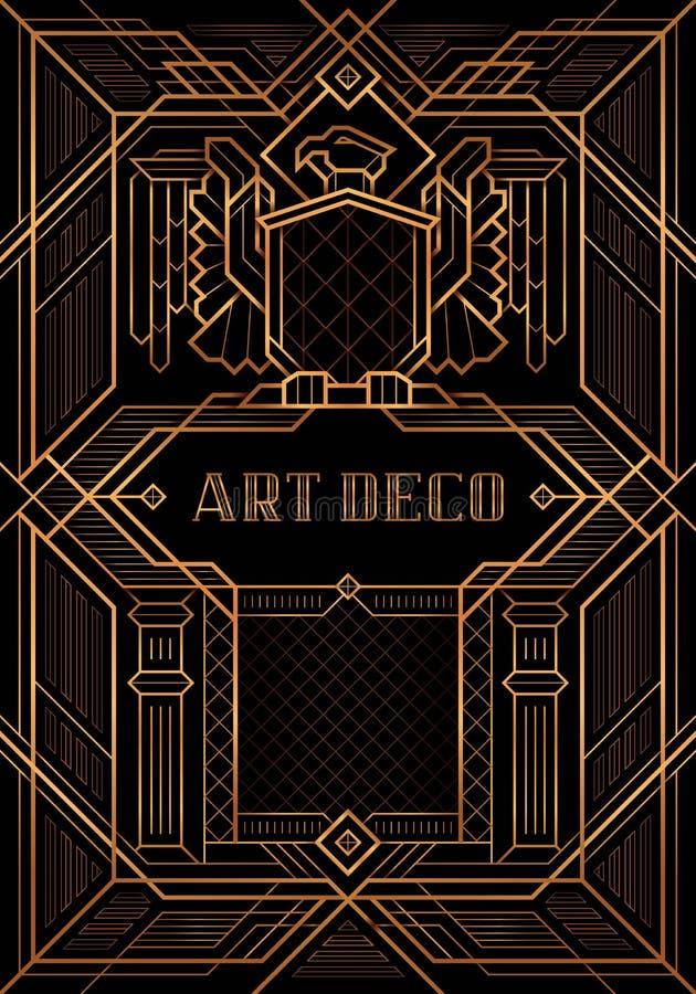 El gran vector del estilo de Gatsby Deco ilustración del vector