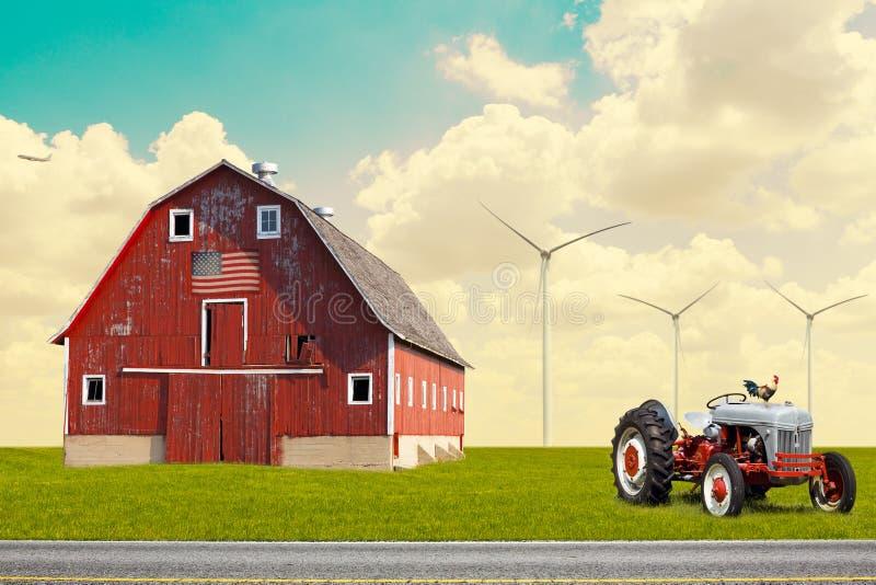 El granero americano tradicional imagen de archivo