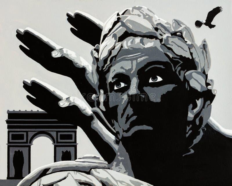 El granizo Caesar imagenes de archivo