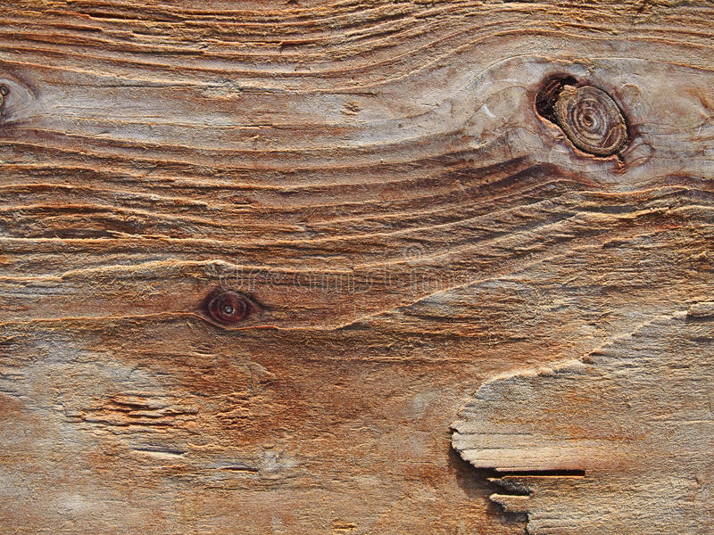 El grano erosionó el fondo de madera, textura de madera áspera, PA de la madera de deriva fotografía de archivo