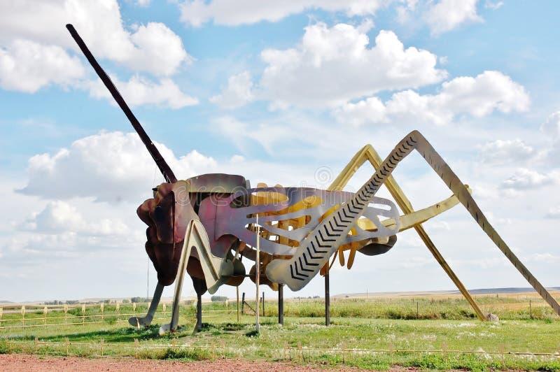 El grasshoper más grande del mundo de Dakota del Norte foto de archivo