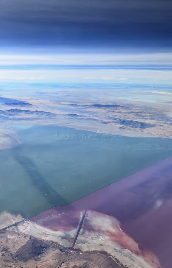 El Great Salt Lake, Utah imagen de archivo