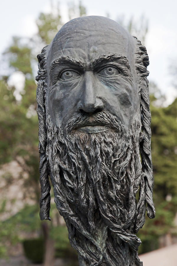 Download El Greco's Head In Front Of His Home In Toledo Royalty Free Stock Image - Image: 26852646