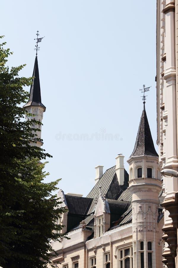 El gremio grande en Riga imagenes de archivo