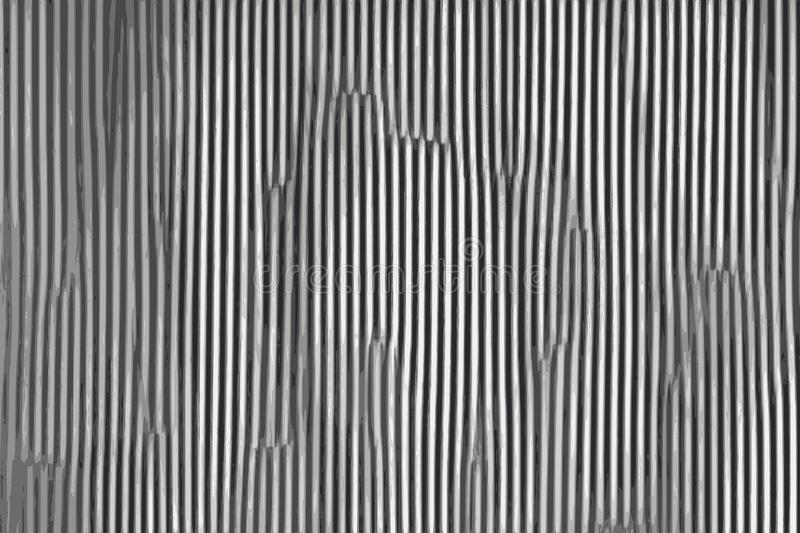 El gris acanaló el fondo metálico abstracto con texturas del metal libre illustration
