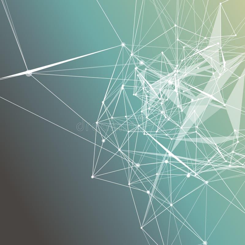 El gris de la turquesa colorea pendiente abstracta del fondo stock de ilustración