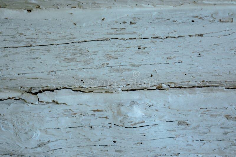 El gris de madera se descoloró fondo de los registros con los defectos y las fracturas foto de archivo