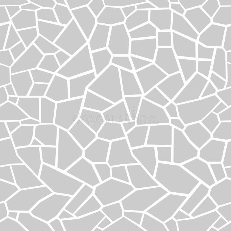 El gris empiedra el fondo Tracery inconsútil del mosaico ilustración del vector
