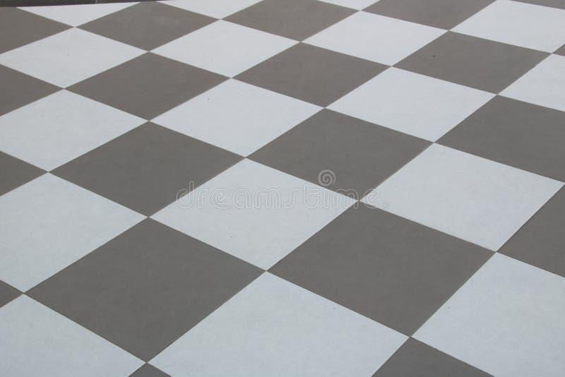 El gris y el blanco de la tabla de la teja foto de archivo libre de regalías