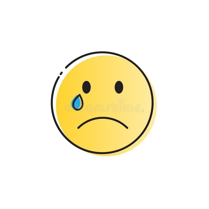 El grito amarillo de la cara de la historieta rasga el icono de la emoción de la gente libre illustration