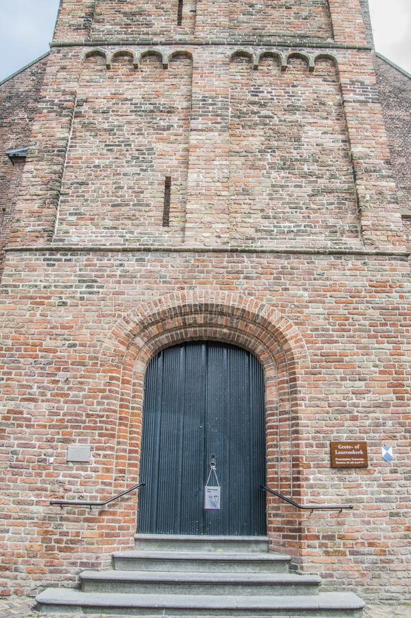 El Grote- o Laurens Church At Weesp The Países Bajos 2018 imagenes de archivo
