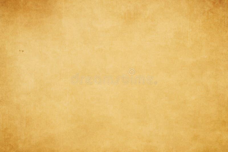 El Grunge amarilleó la textura de papel ilustración del vector