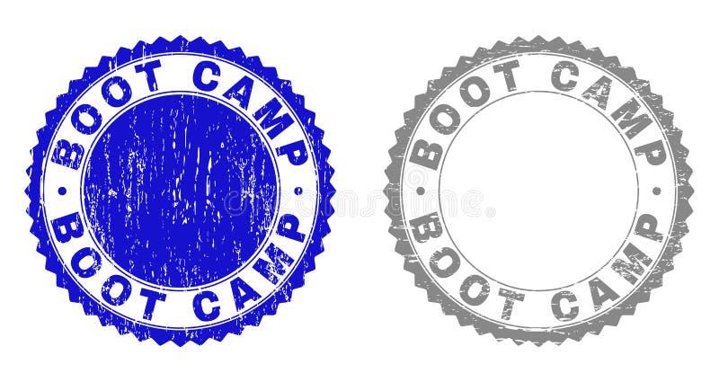 El Grunge BOOT CAMP rasguñó filigranas stock de ilustración
